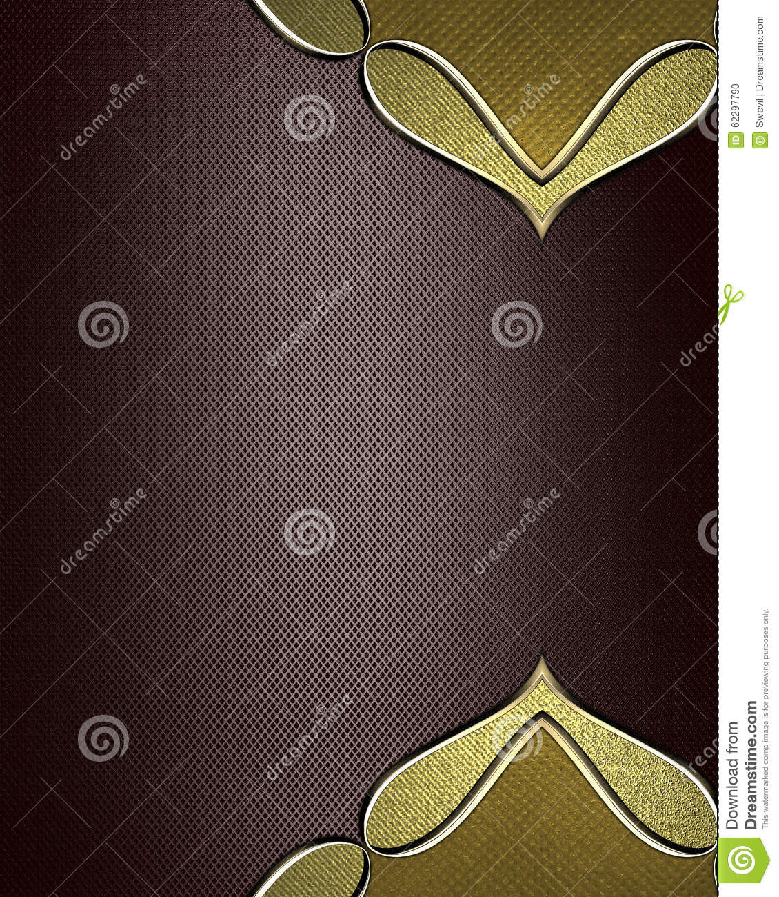 Brown nameplate element for design template for design for Copy design