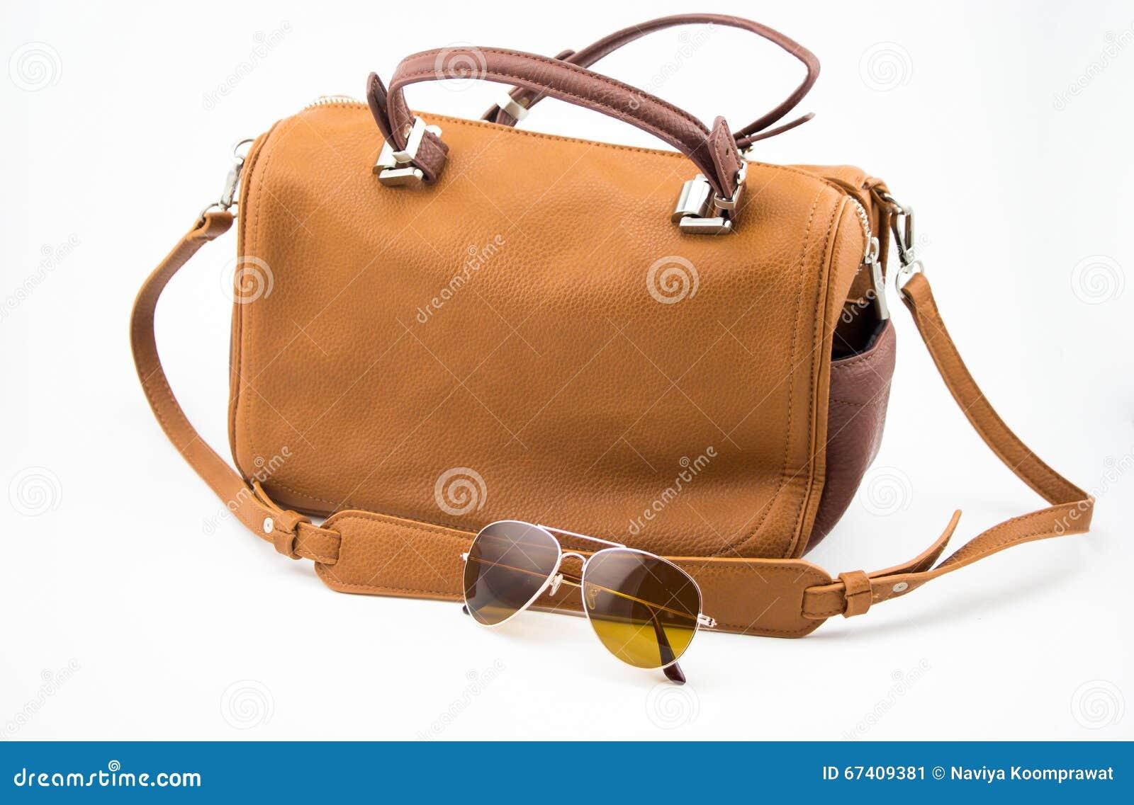 Brown naramienna torba