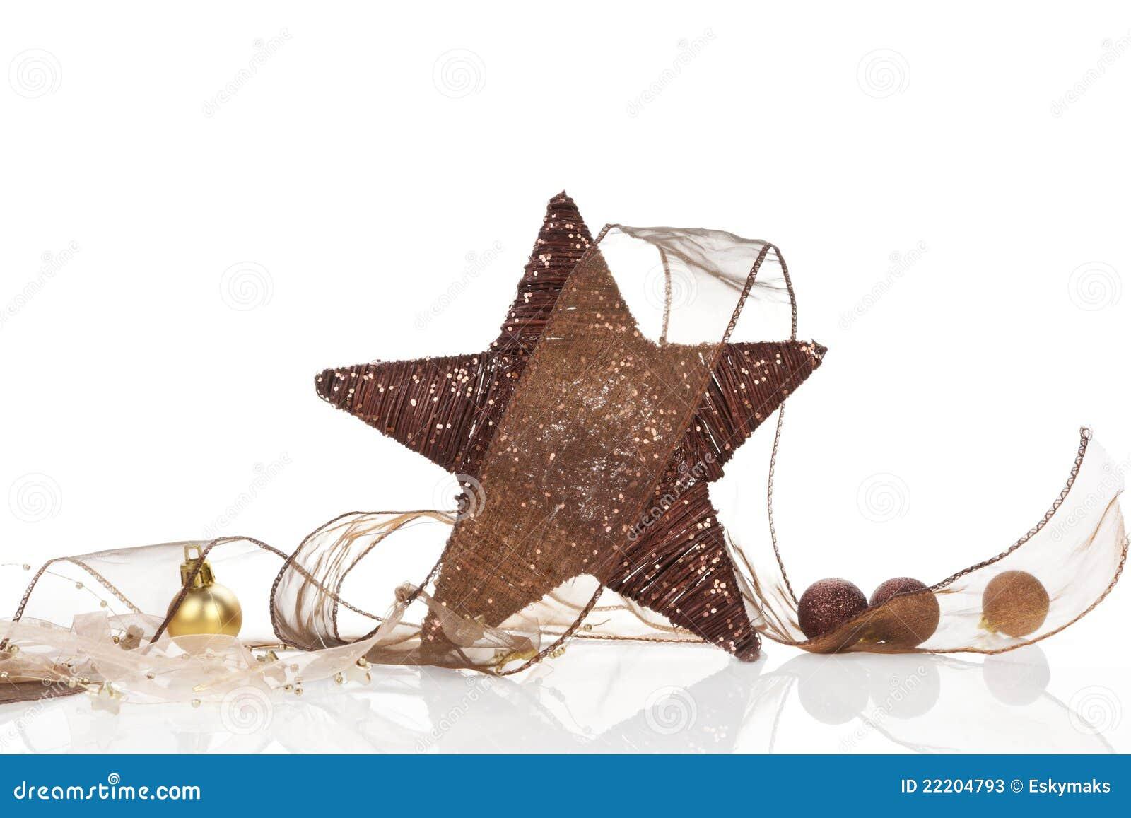 brown nat rliche weihnachtsdekoration stockfotos bild. Black Bedroom Furniture Sets. Home Design Ideas