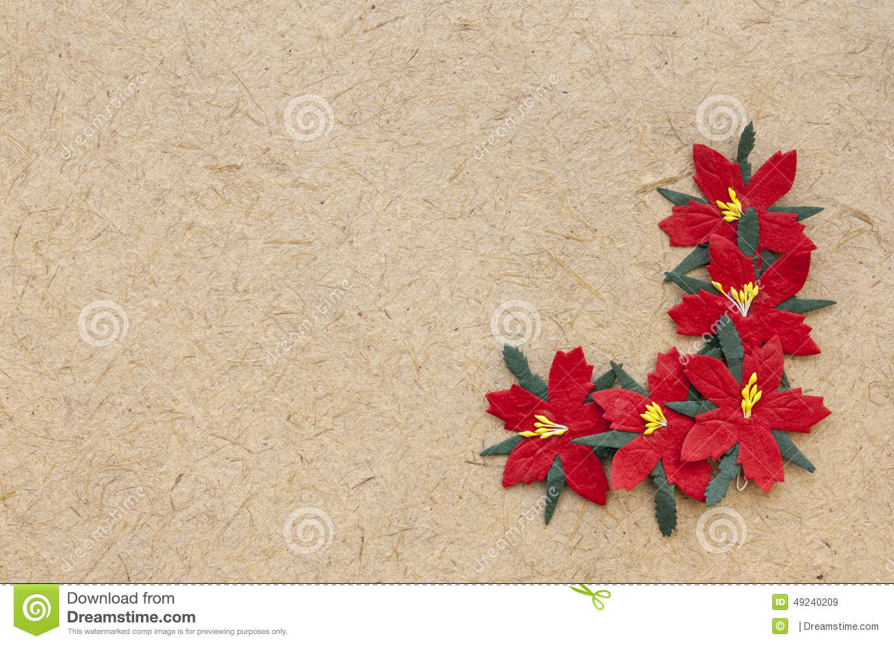 Brown Nature Material Paper Christmas Card Stock Image Image Of