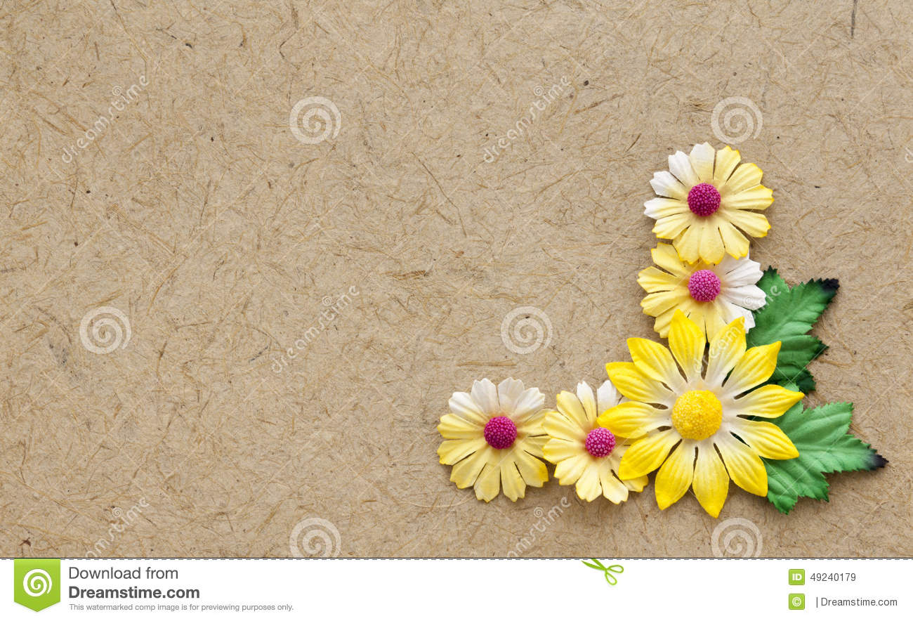 Brown nature material paper flower card stock image image of empty download comp mightylinksfo