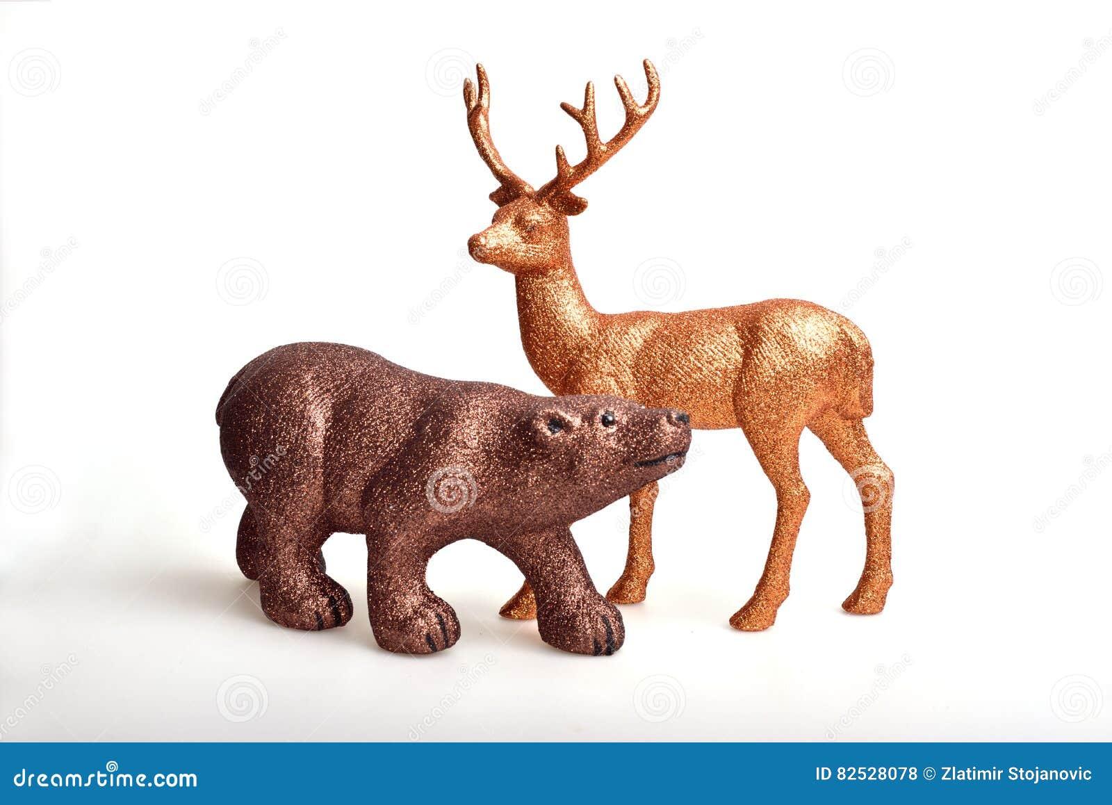 Brown niedźwiedź i złoty rogacz