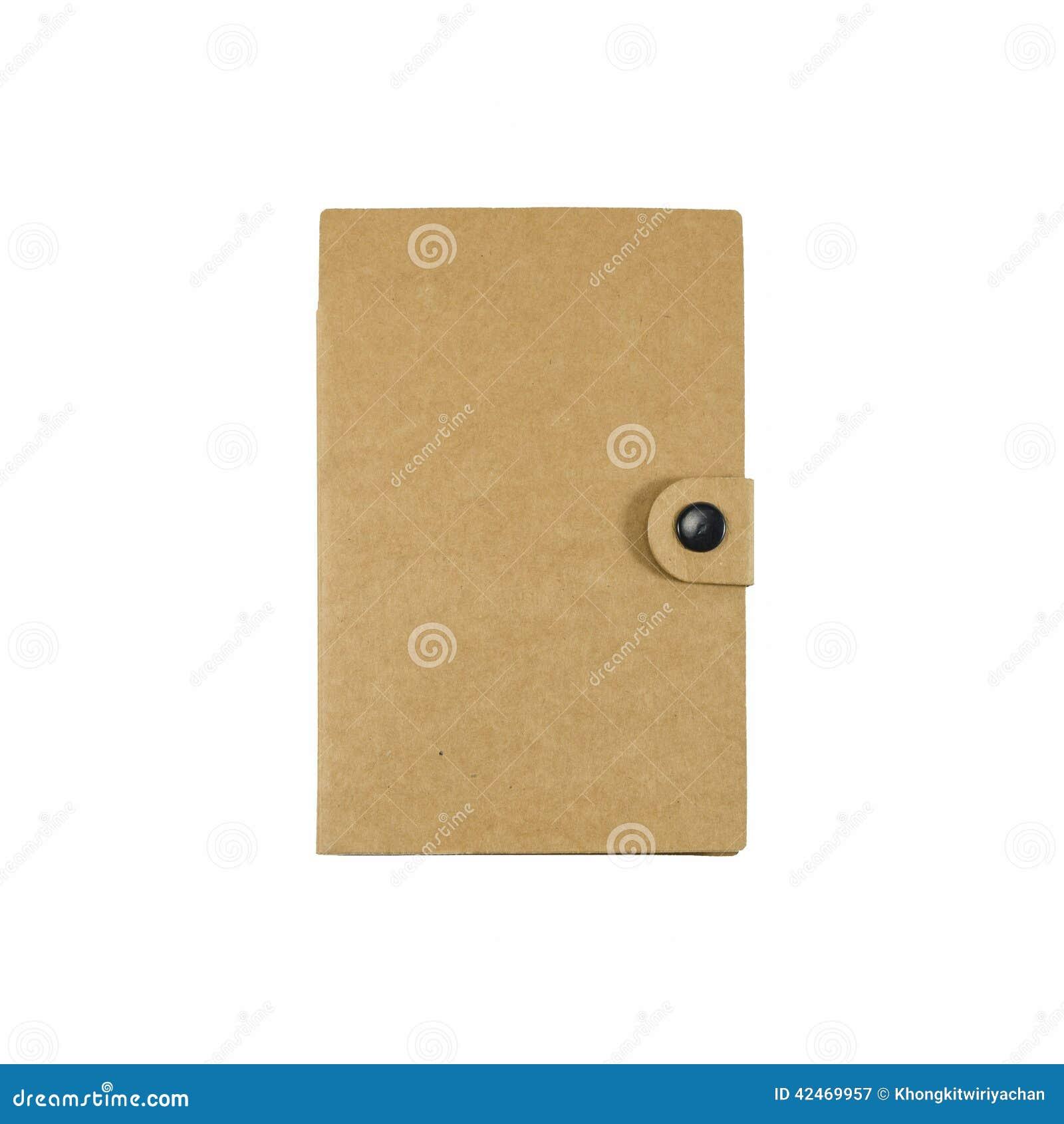 Brown-Notizbuch mit lokalisiert