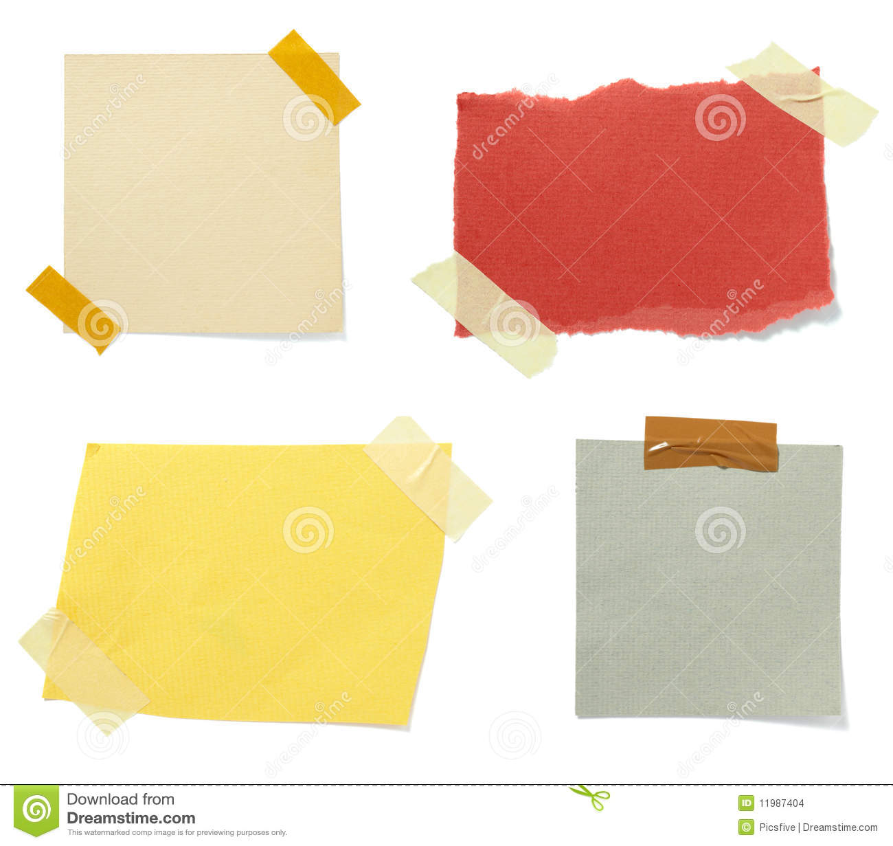 Brown Old Paper Note Background Stock Photo Image 11987404