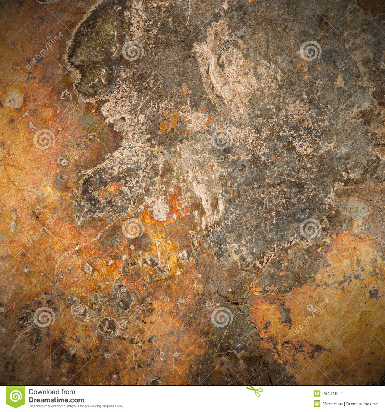 Brown Old Rust Metal Plate Background Stock Image Image