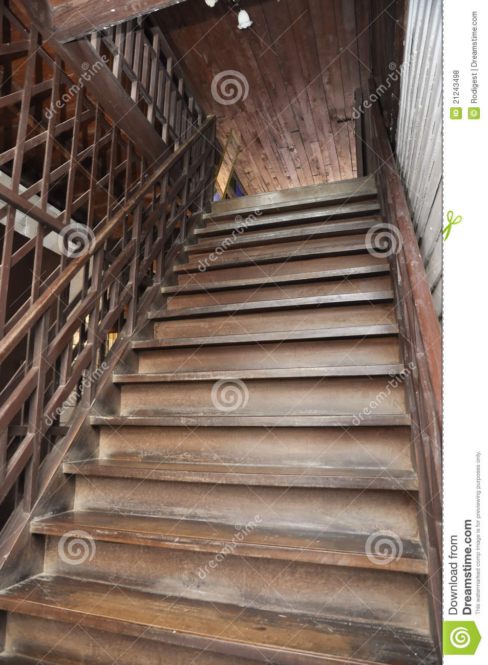 Brown Old Style Wood Ladder Home Stock Photo Image Of