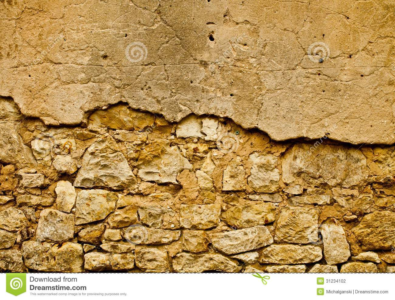 Brown Old Wall Stock Photography - Image: 31234102