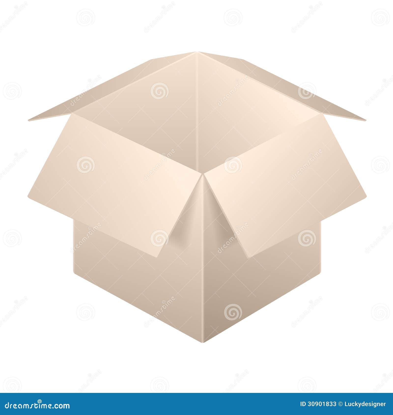 brown open box icon template stock vector illustration 30901833. Black Bedroom Furniture Sets. Home Design Ideas