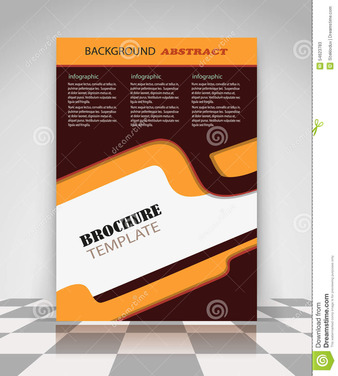 Brown And Orange Abstract Business Flyer Design Vector – Business Brochure Design