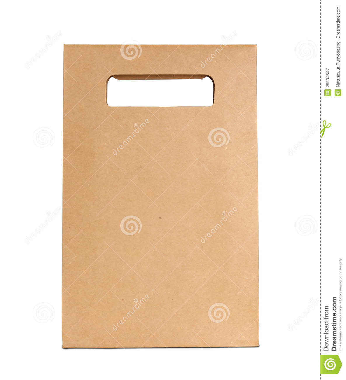 Paper bag yellow - Brown Paper Bag