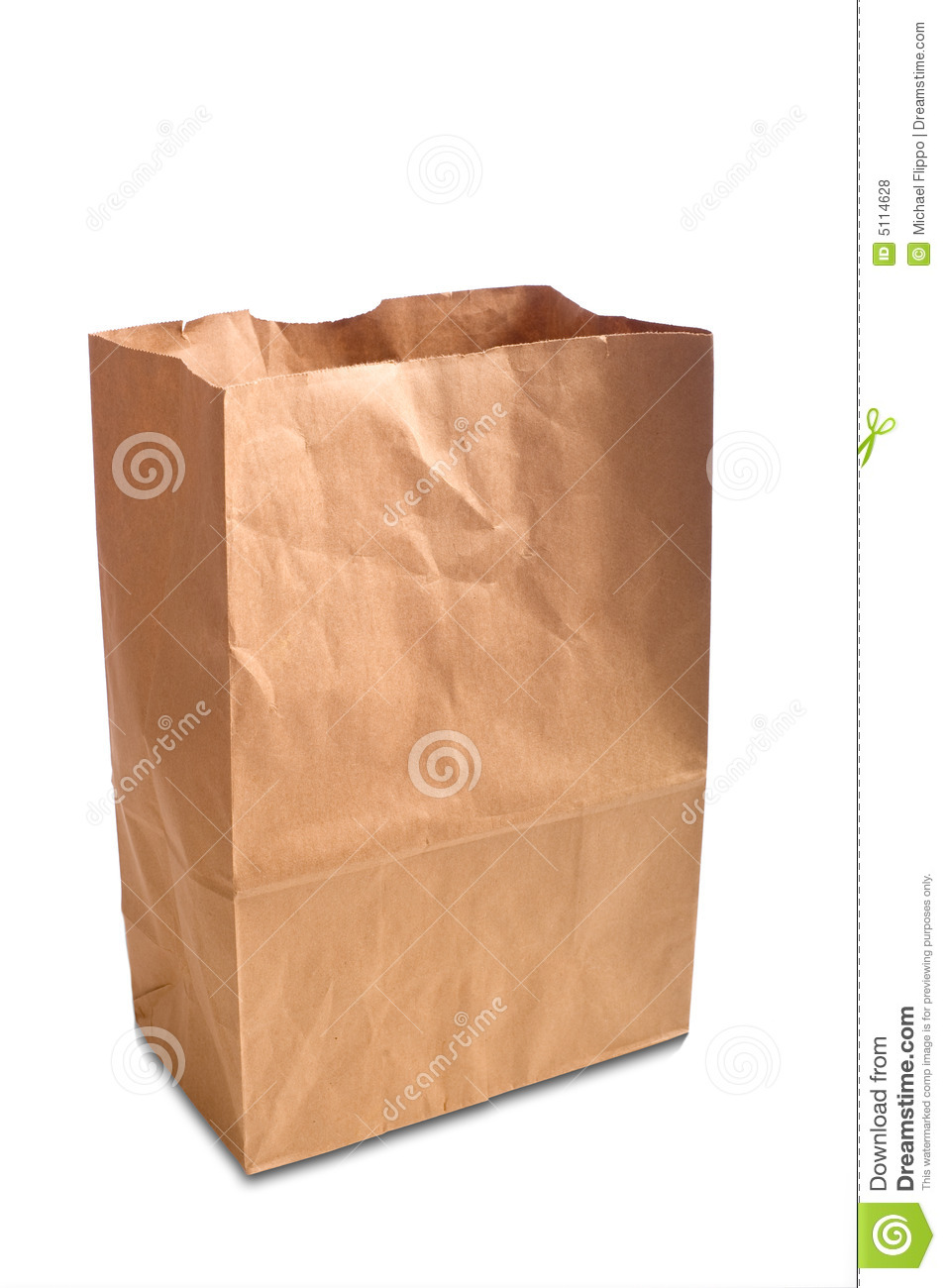 Brown Paper Bag Stock Photo Image Of Containter Sack