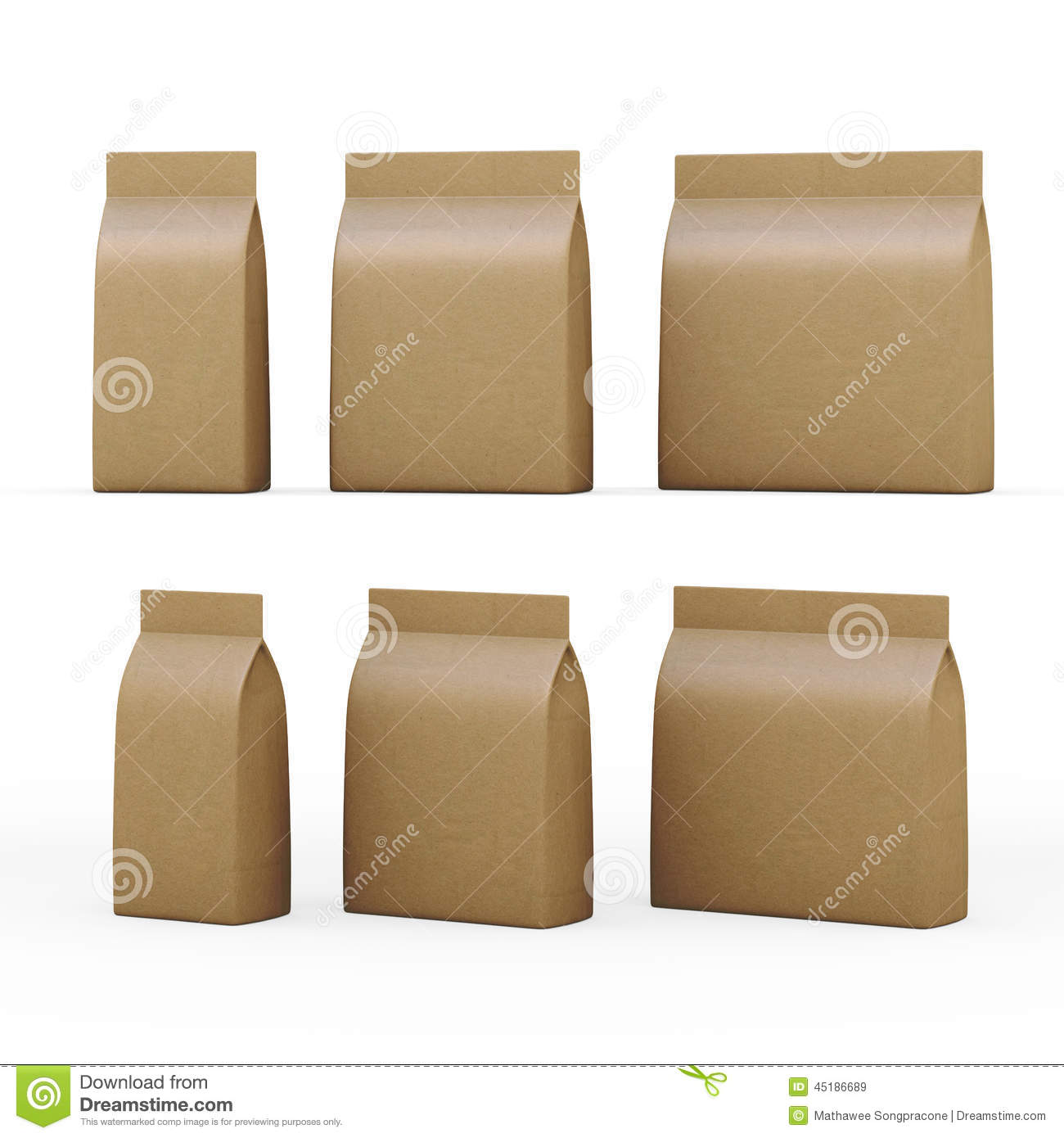 Brown paper bag packaging for general products with clipping pat