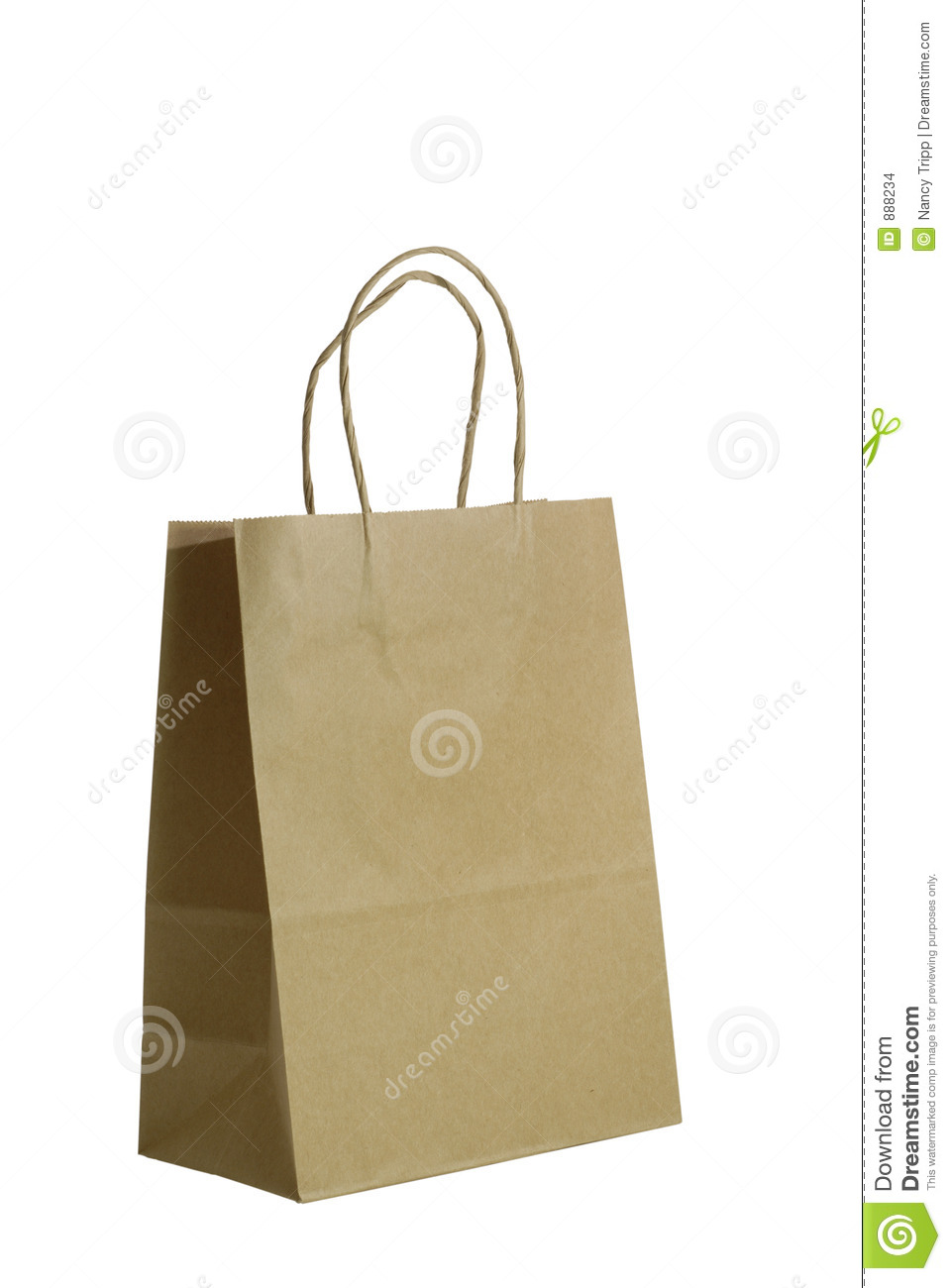 Brown paper gift bag stock photo image of decor for Brown paper craft bags