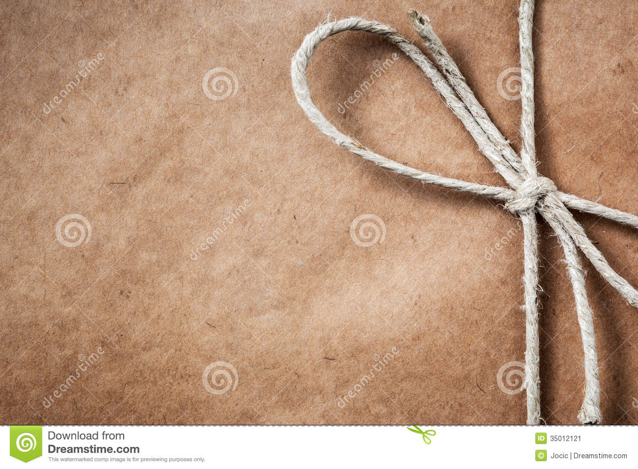 brown paper parcel with copy space stock image