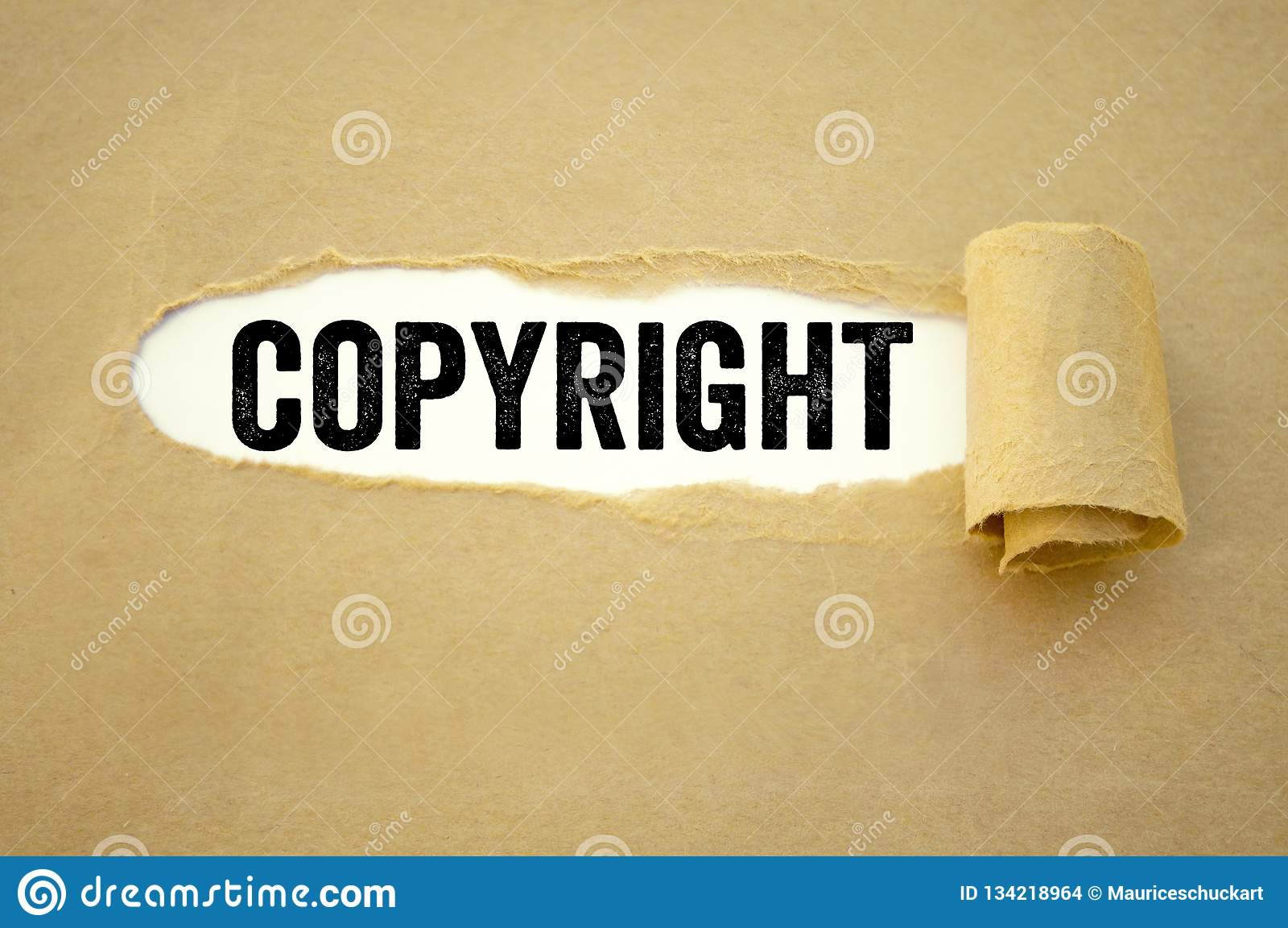 Paper work with copyright