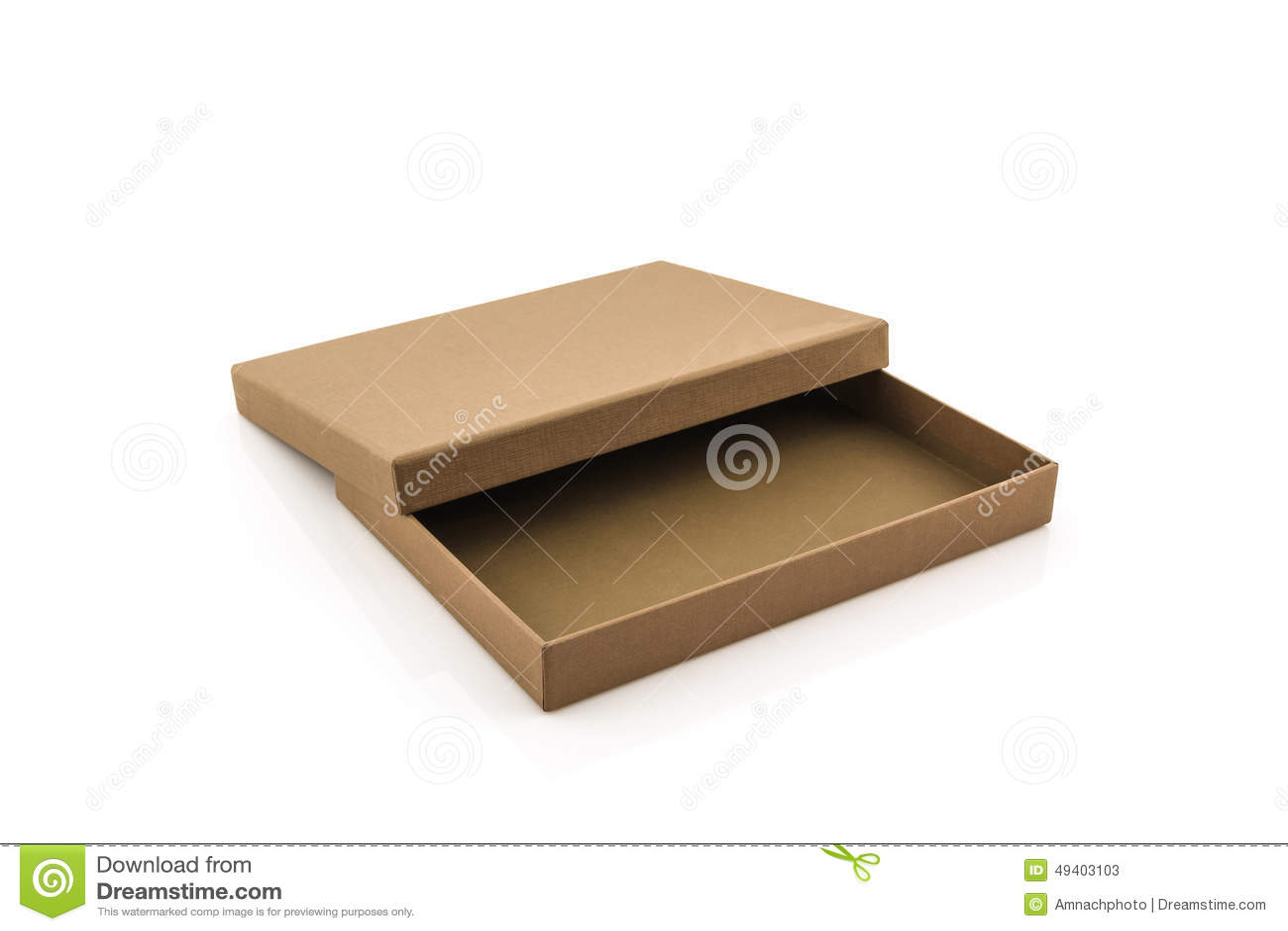 Download Brown-Papierkasten Auf Weißem Hintergrund Stockbild - Bild von pfad, geschäft: 49403103
