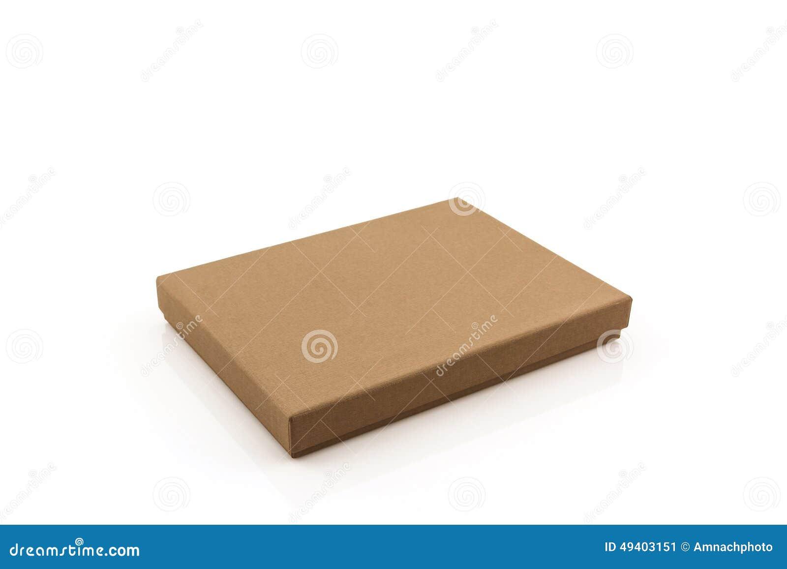 Download Brown-Papierkasten Auf Weißem Hintergrund Stockbild - Bild von waren, pappe: 49403151