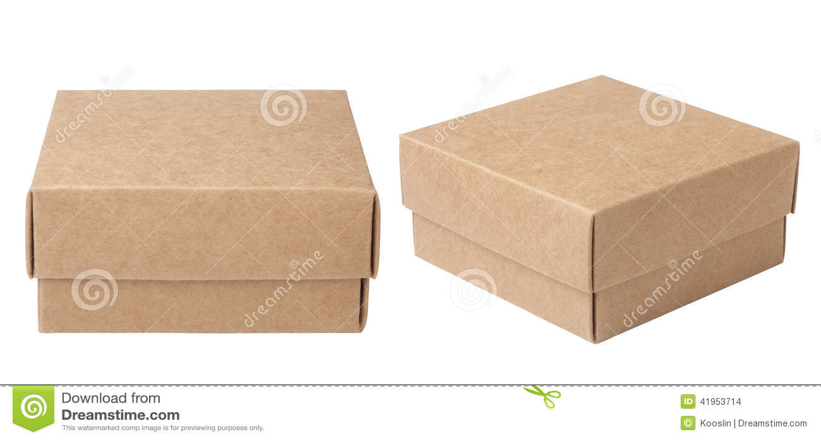 Brown papierowy pude?ko