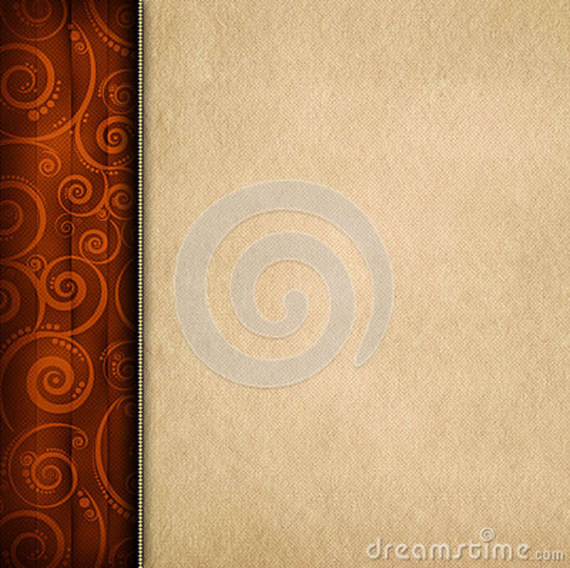 Brown pattern background and paper sheet