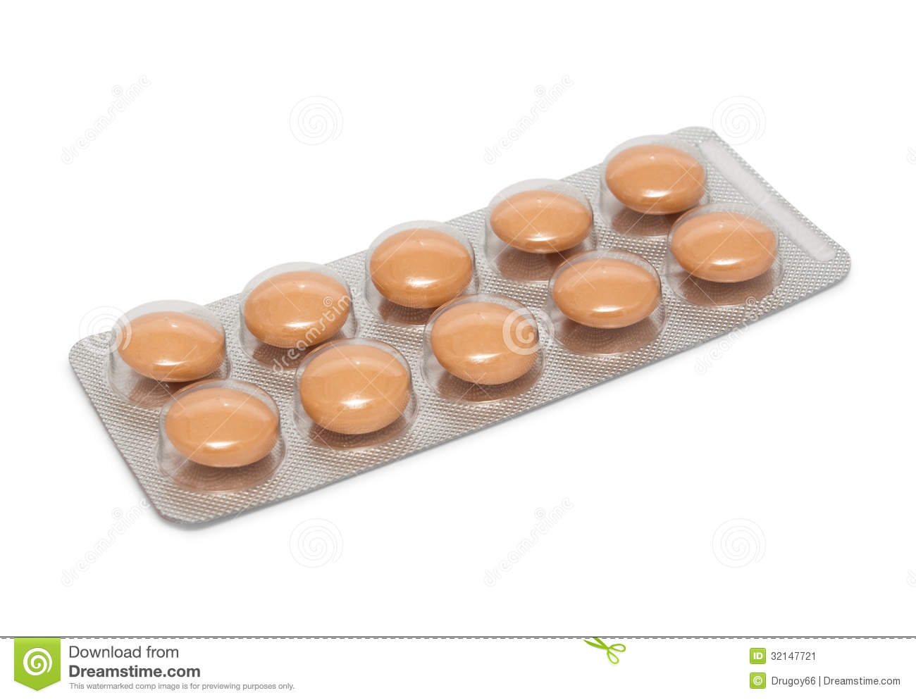 Brown pills in package stock image. Image of packing ...