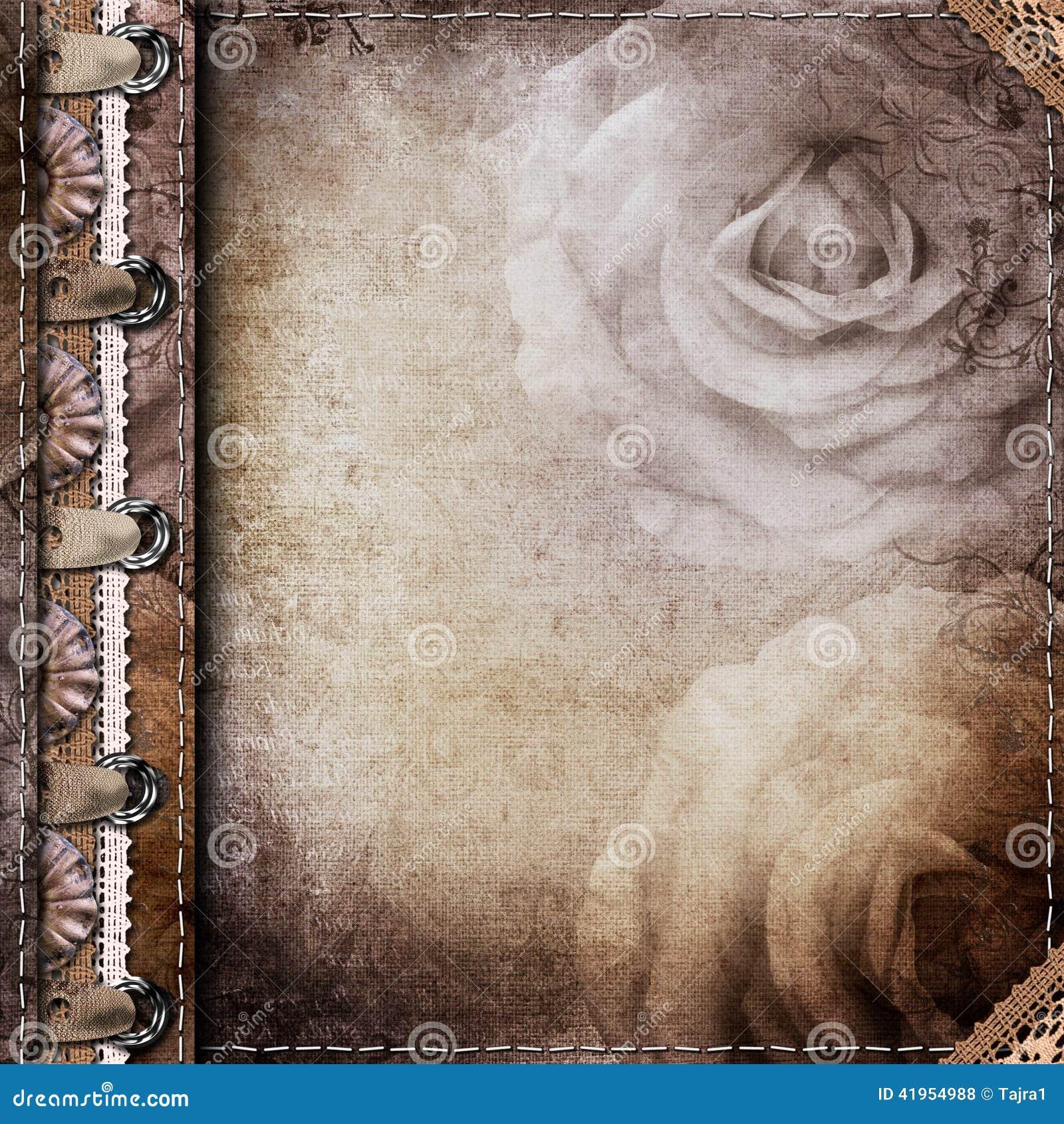 Brown pokrywa dla albumu z fotografiami