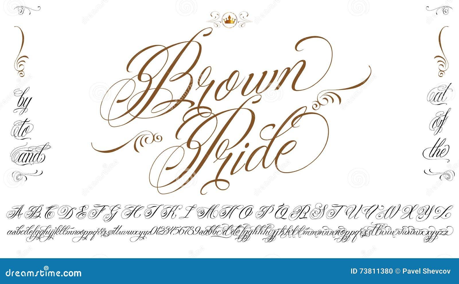 Brown Pride Lettering