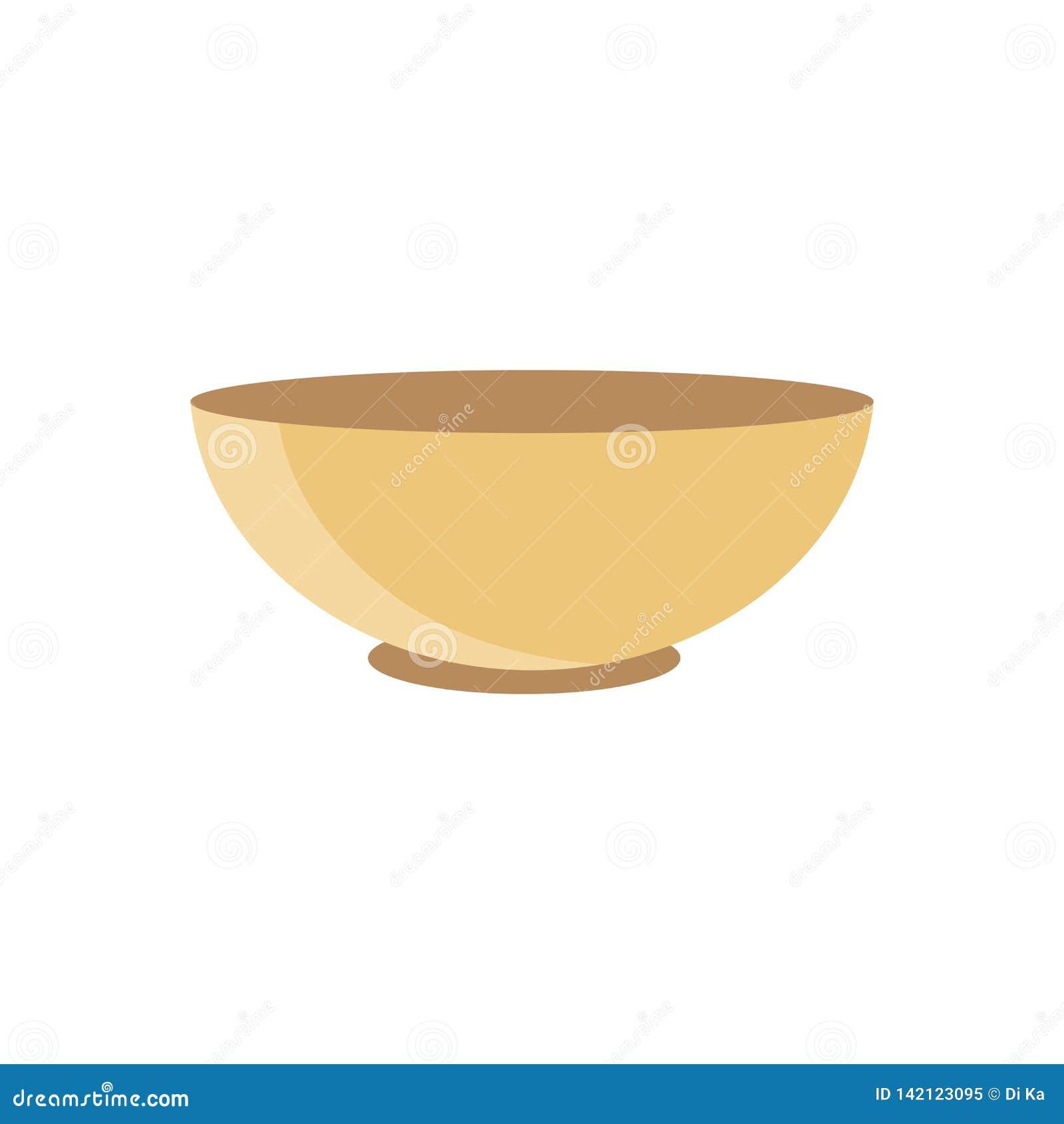 Brown pucharu talerza ikony wektorowy clipart