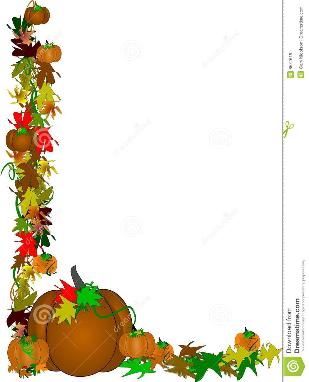 Brown Pumpkin Border Design Stock Photo Image Of