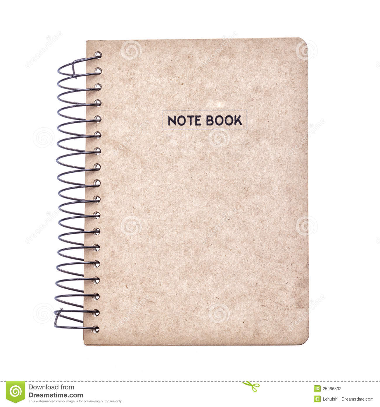 Brown Recycle Notebook Cover Stock Photography - Image: 25986532