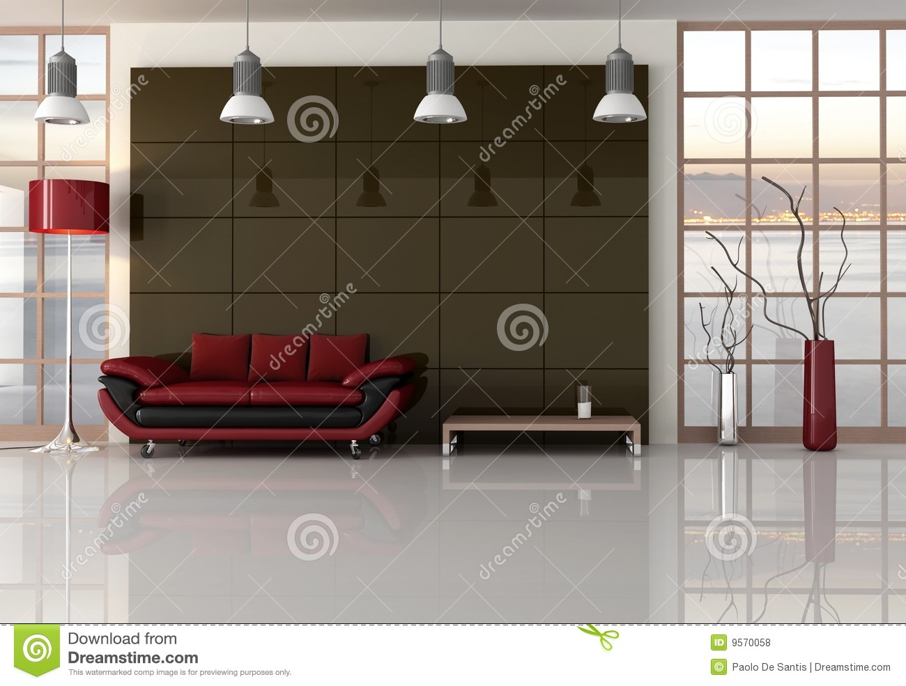 Brown red and black living room royalty free stock photos for Red brown and black living room