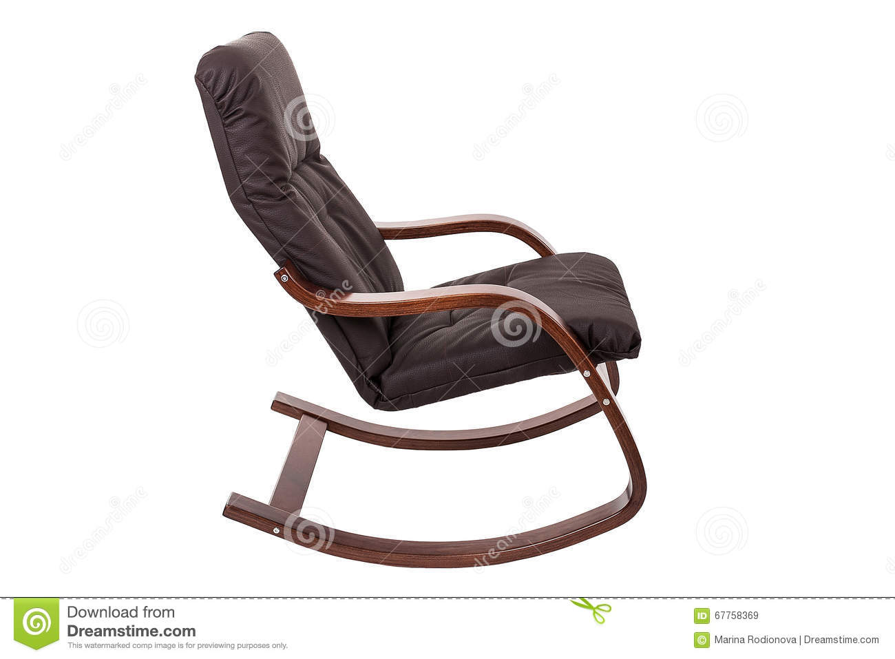 Pleasant Brown Rocking Chair Isolated On A White Background Stock Inzonedesignstudio Interior Chair Design Inzonedesignstudiocom