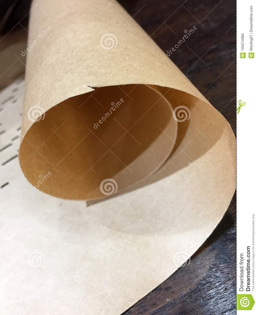 Brown rolled paper background