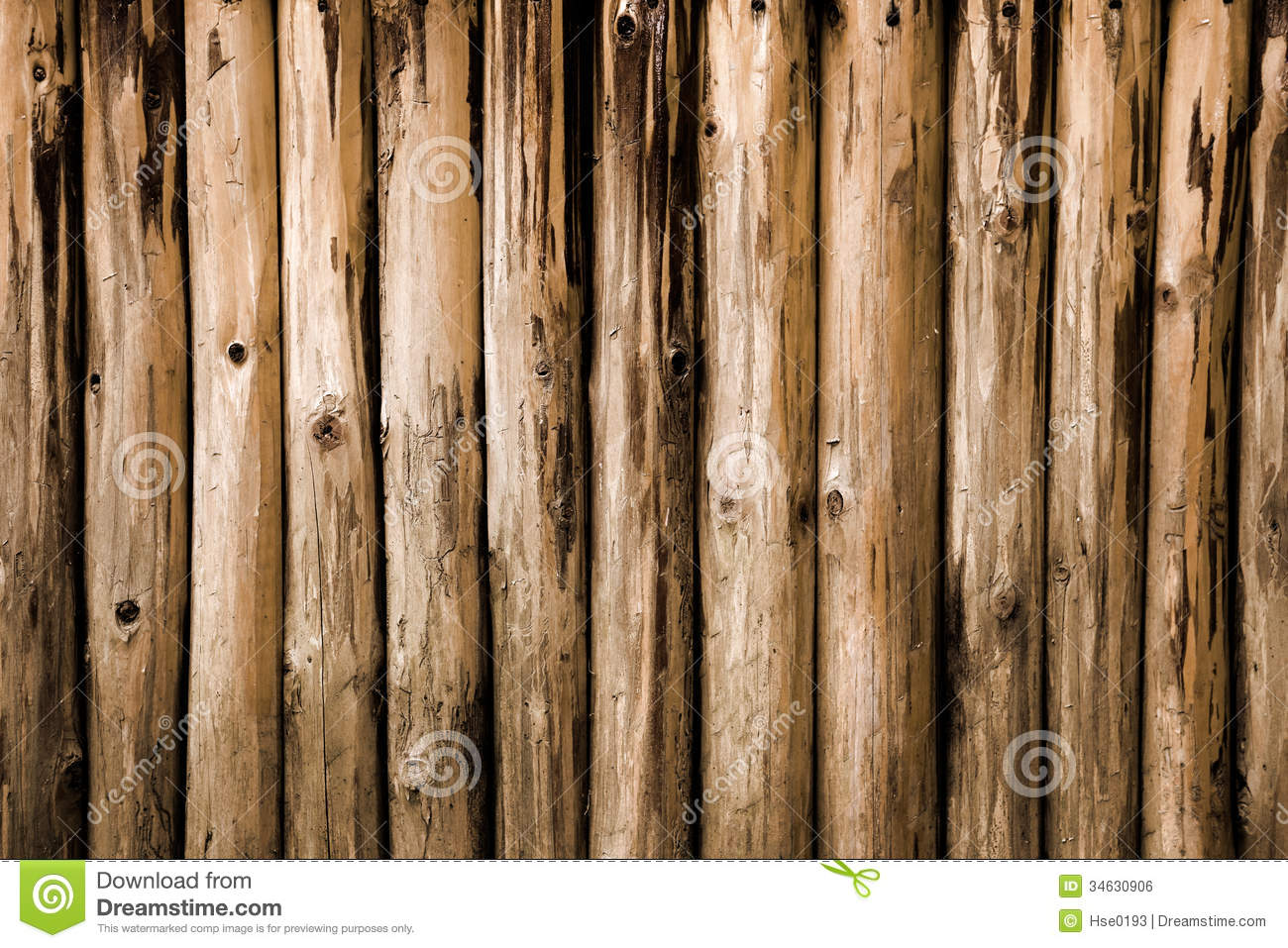 Brown Round Logs Background Royalty Free Stock Image