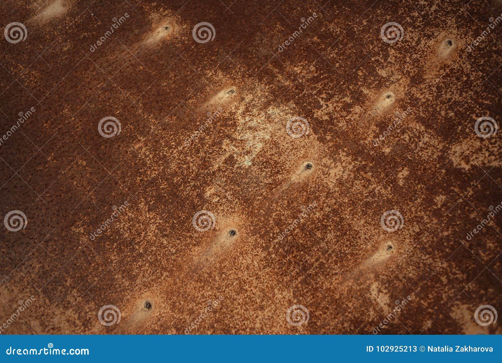 Brown Rust Textured Background. Decay steel metal Background. Gr