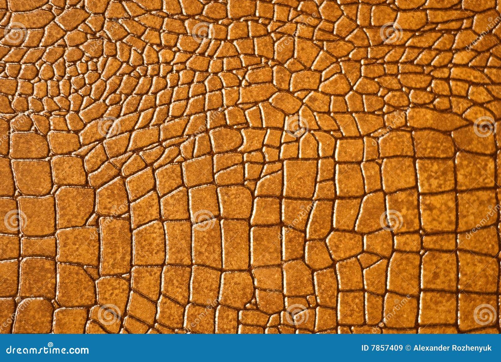 Brown snakeskin or crocodile texture
