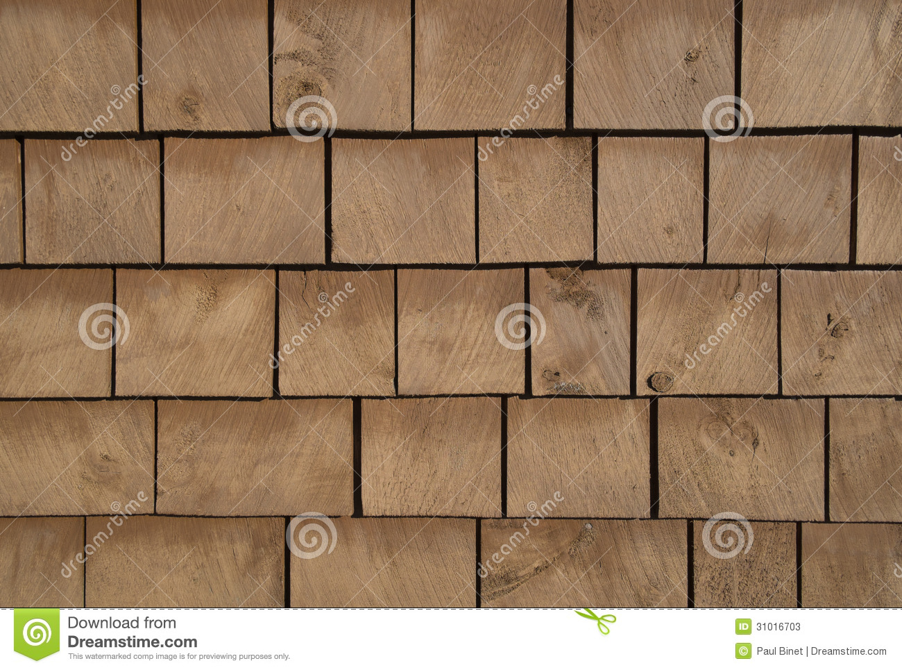 Brown Stained Cedar Shingle Background Stock Photos