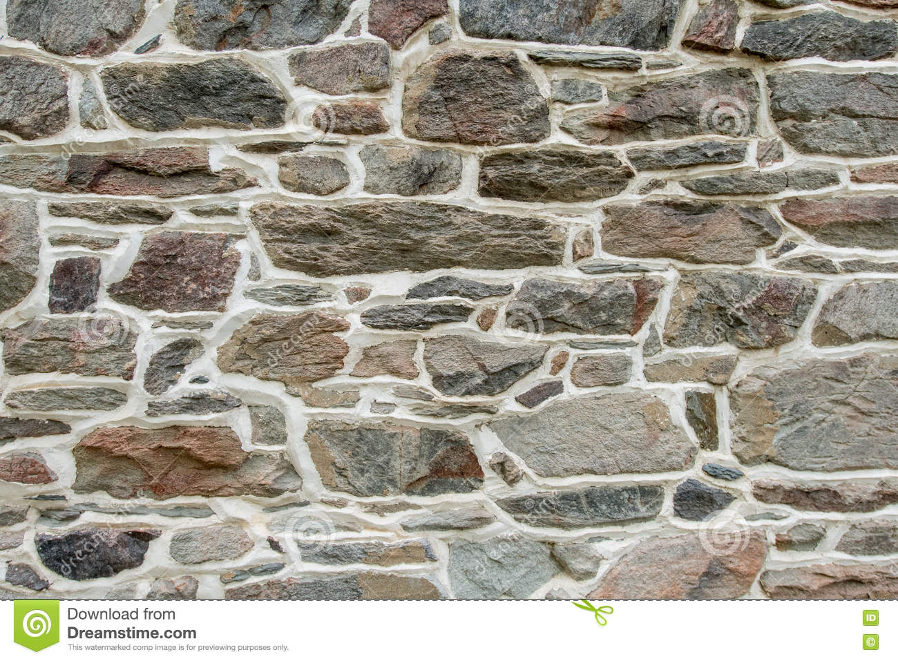 Marble Wall Plastering : Brown stone wall with plaster background stock photo