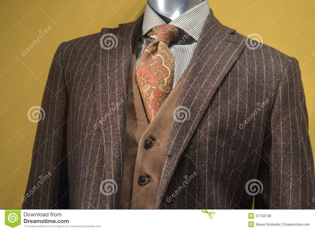 Brown Striped Suit Royalty Free Stock Photos - Image: 37792138