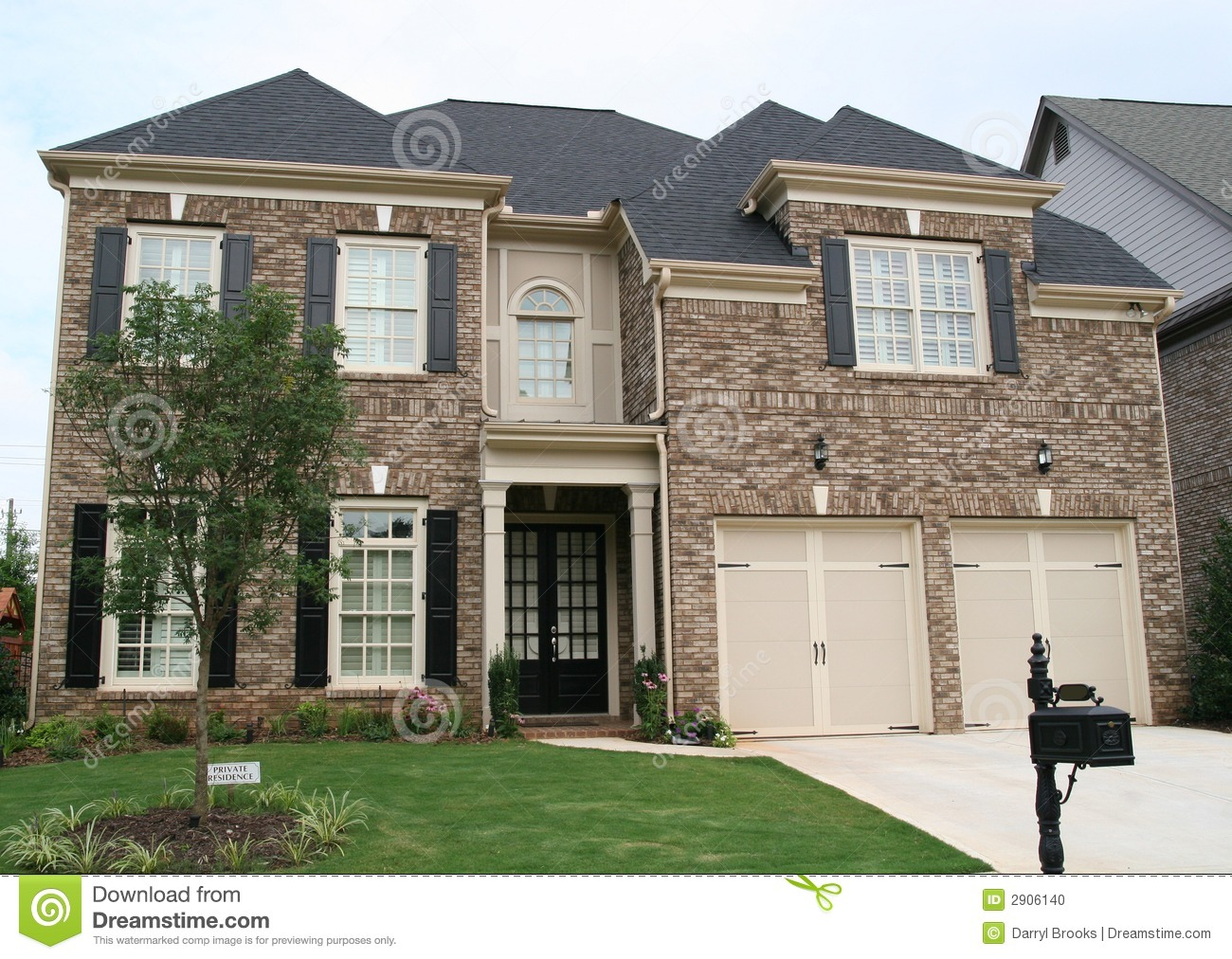 Brown And Tan Brick House Stock Photo Image 2906140: house photos gallery