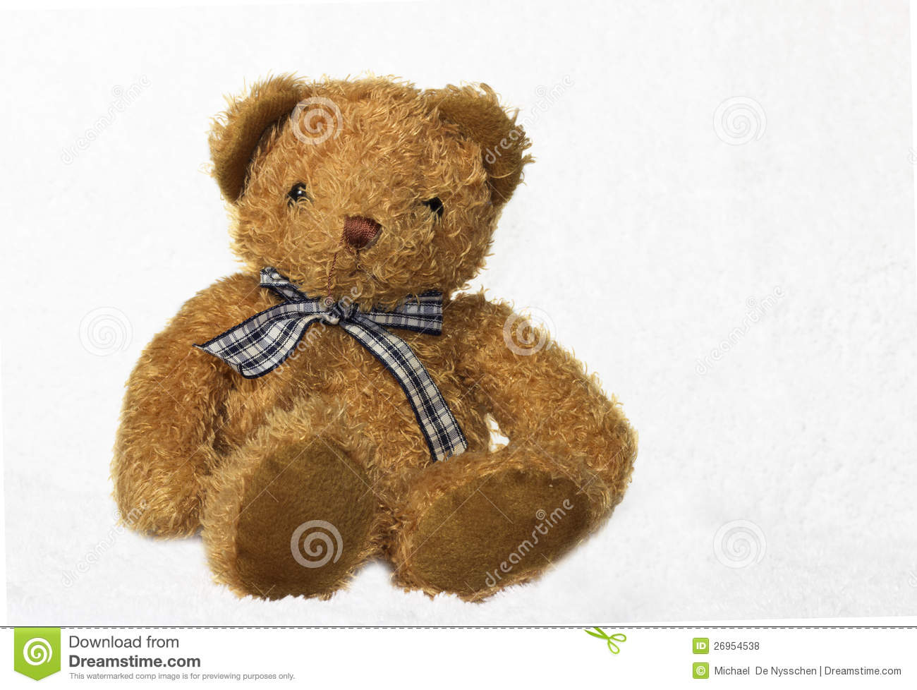 Brown Teddy Bear On White Background Stock Photo - Image ...
