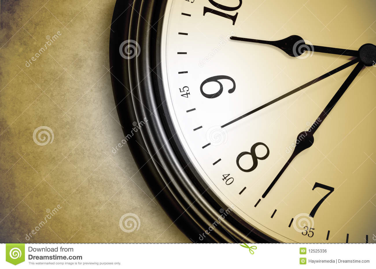 Brown Time Clock Ticking