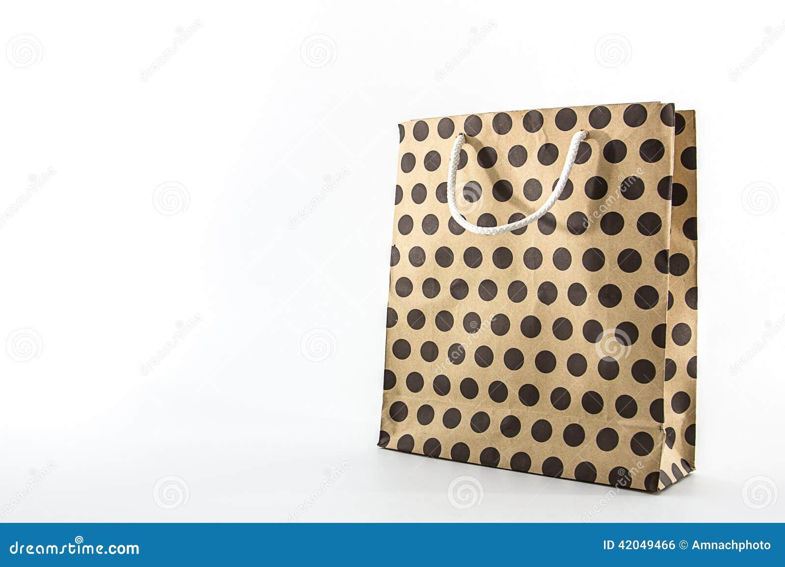 Brown-Tupfenpapiertüte
