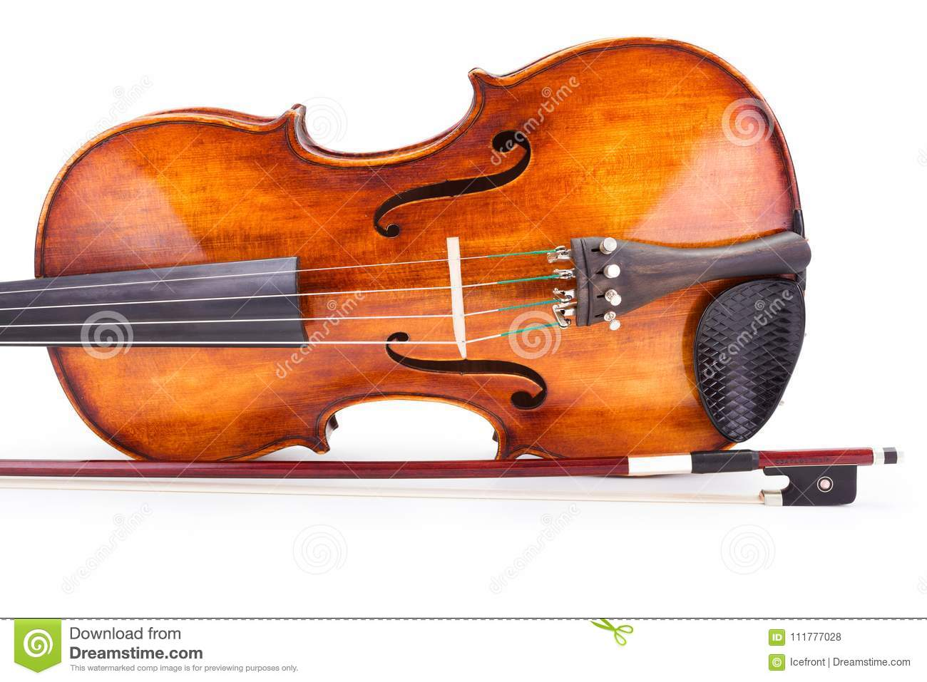 Brown violin and bow