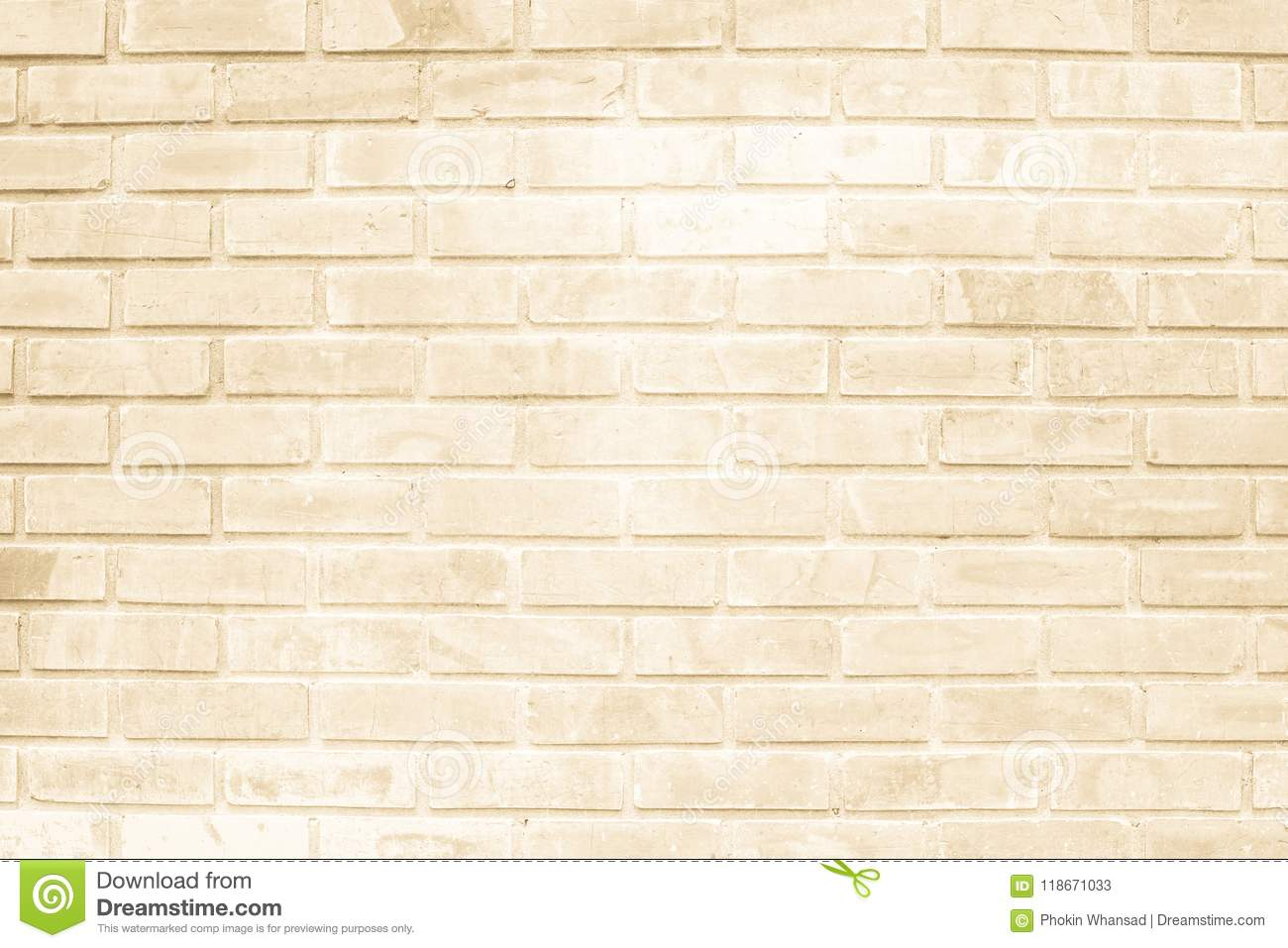Brown And White Brick Wall Texture Background Or Wallpaper Abstr