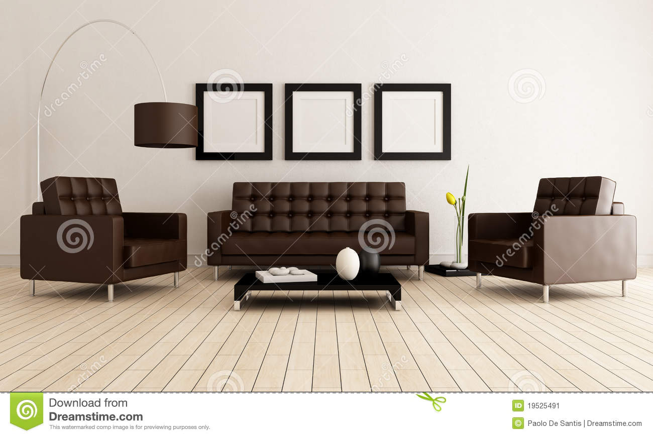 White And Brown Living Room brown and white living room stock image - image: 19525491