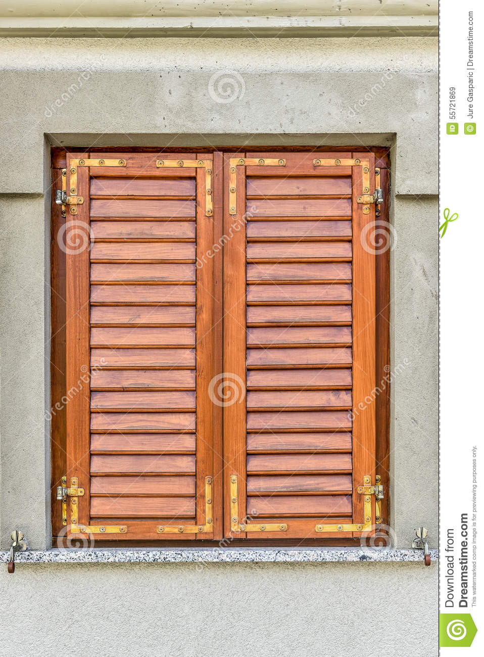 Brown window withclosed shutters stock image image 55721869 for European shutters