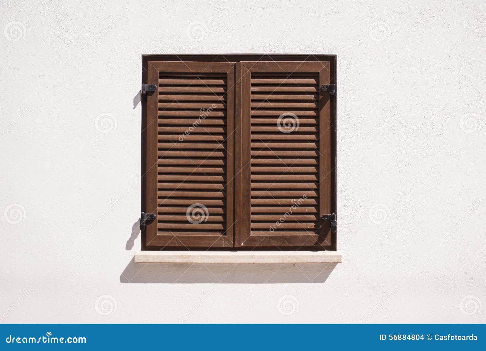 Brown window.