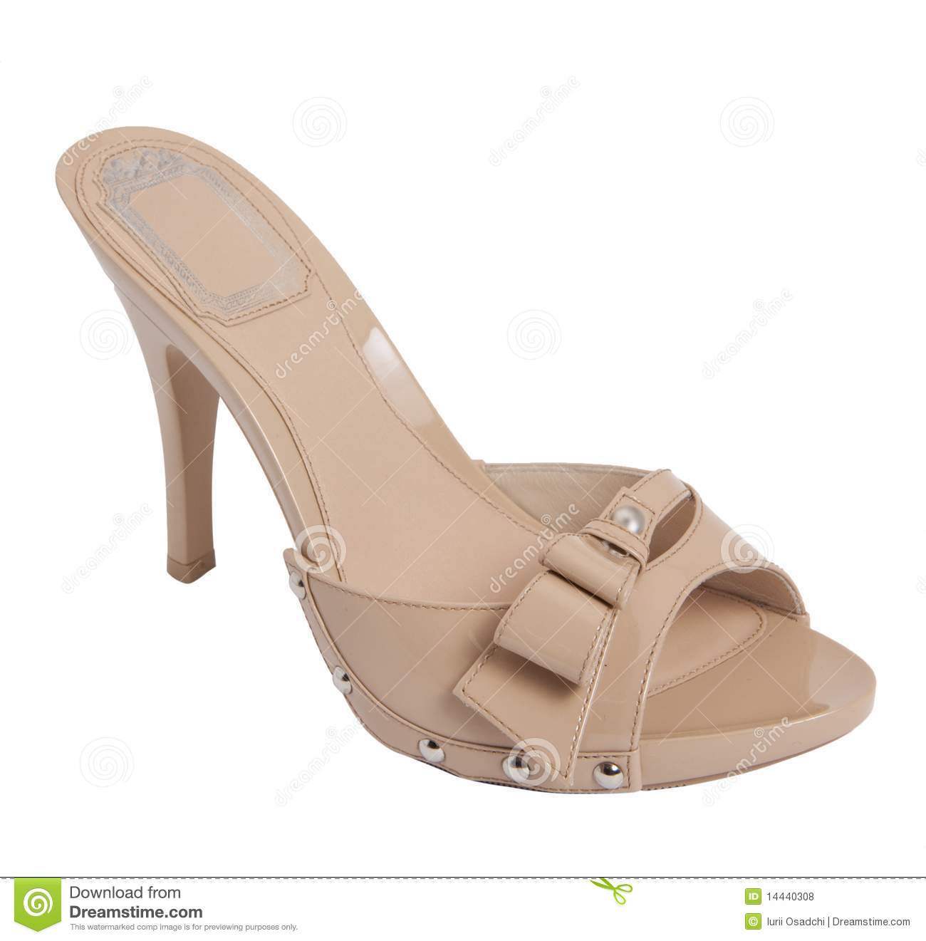 Download Brown women sandal stock photo. Image of heels, object - 14440308