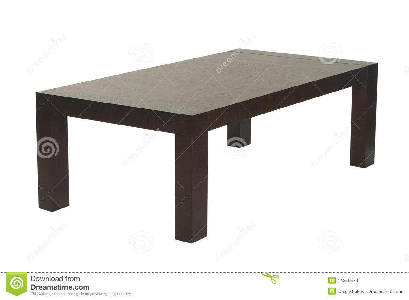 Brown Wood Coffee Table Stock Images - Image: 11359574