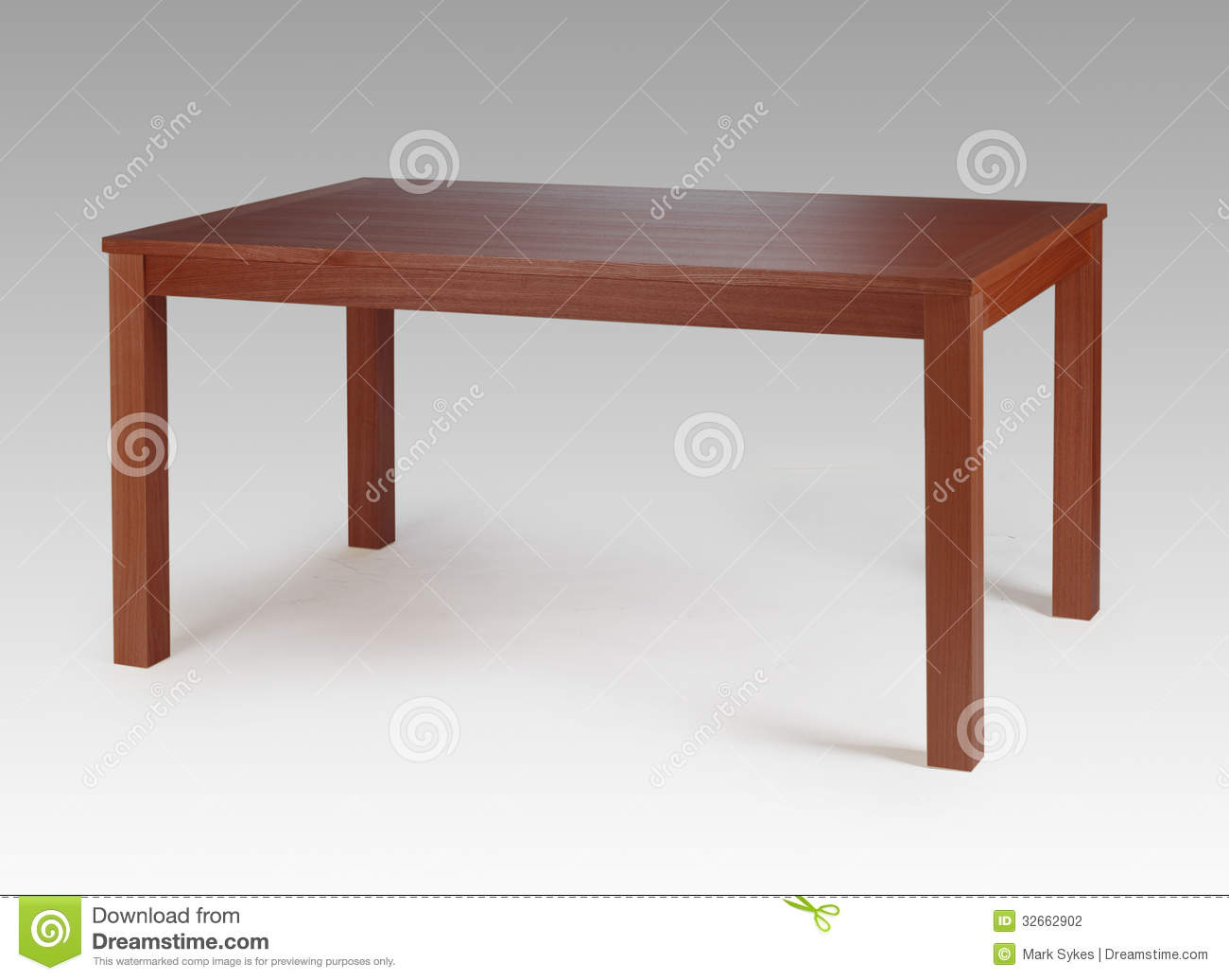 Brown Wood Dining Table Stock Photography